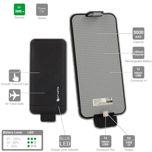 Power Bank  3000MAH 4Smart PowerClip