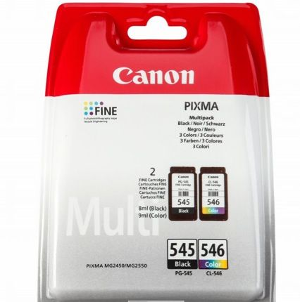 CANON Multipack PG 545 - CL 546 Nero e Colore Originale