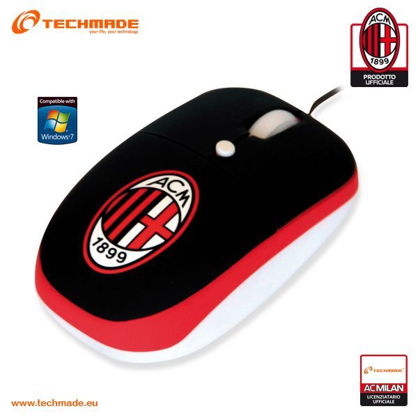 AC Milan Mini Mouse Fan Click Optical USB