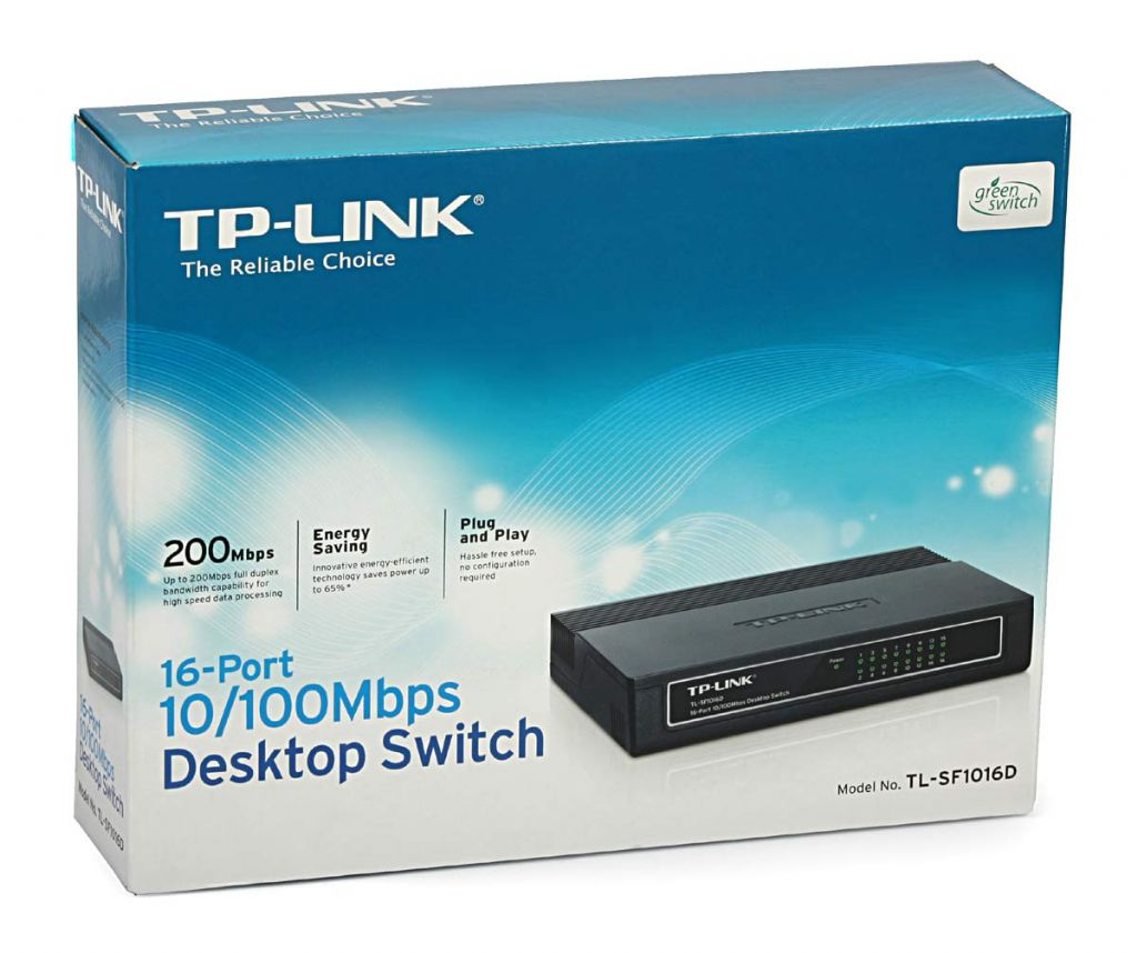 Switch Hub 16 Porte Ethernet TP-Link TL-SF1016D