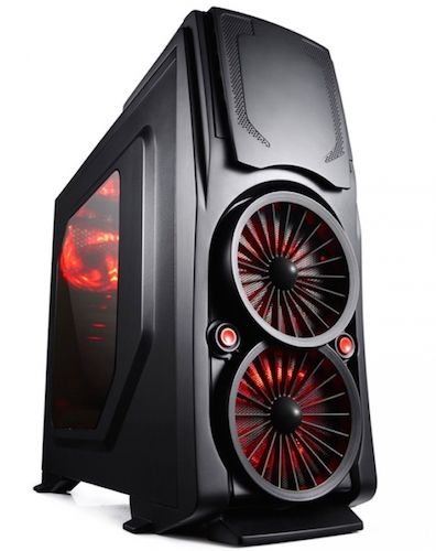 Case Middle Tower ATX Itek Bi-Turbo Gaming Usb 3.0 - No Aliment.