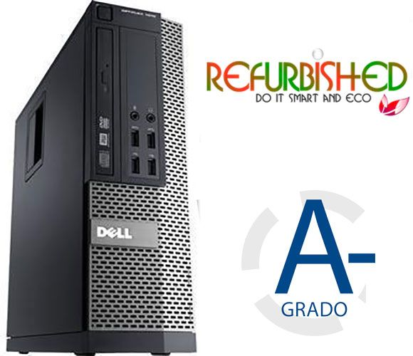 Dell Optiplex 790 I3-2120@3.3Ghz - 4Gb - 250Gb -  W7Pro - Refurbished Gar@12M GRADO A-
