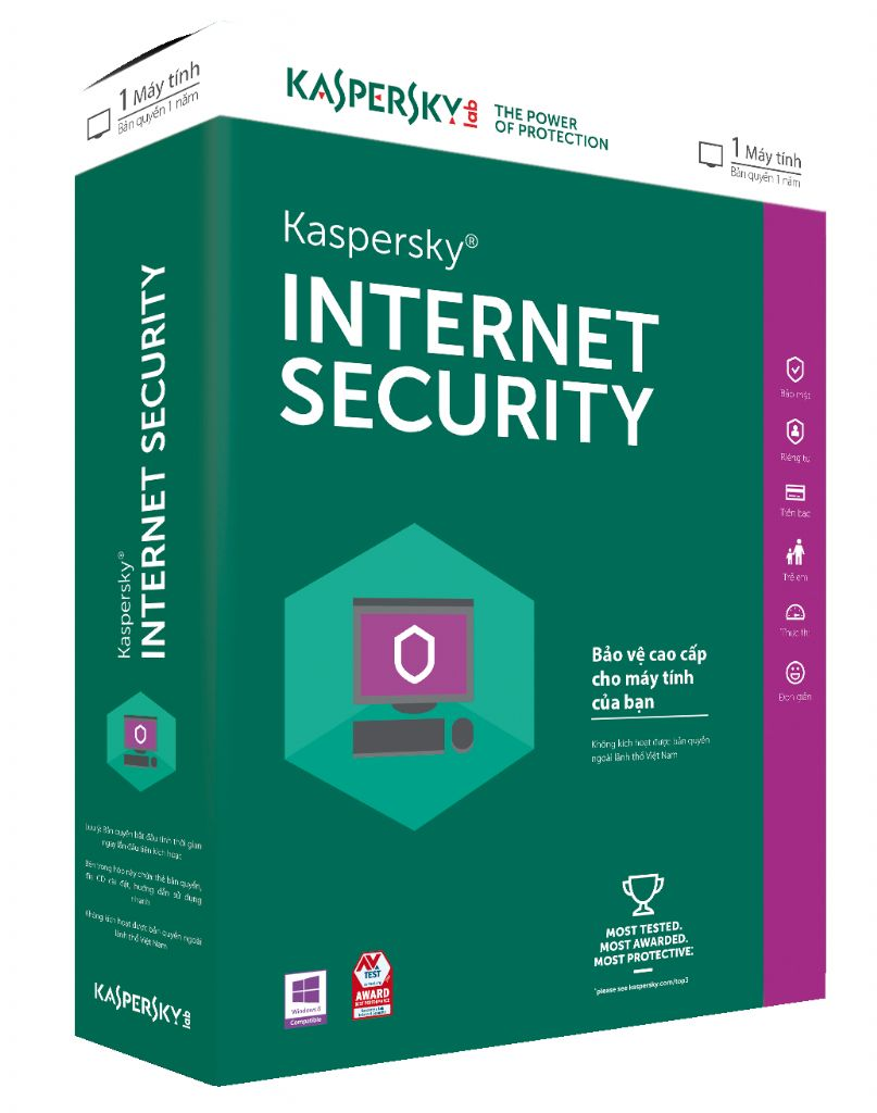 Kaspersky Internet Security 1 Lic - 1 Pc Retail