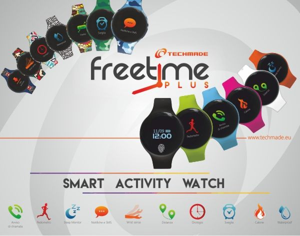 Smart Watch Activity Techmade  Bluetooth IOS/Android