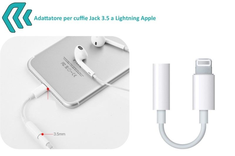 Adattatore per Audio Jack 3,5 a Apple Lightning iPhone