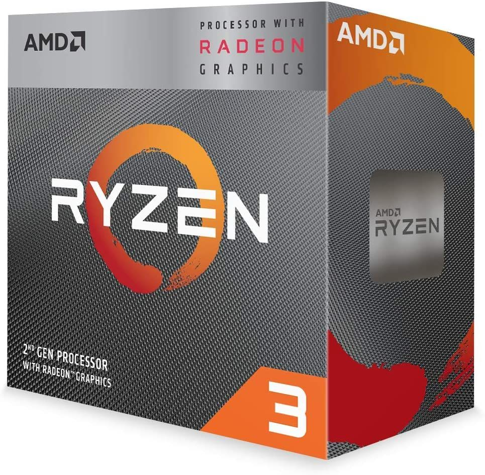 Amd Ryzen 5 Sk-AM4 3200G Quad Core 4,0Ghz Boxed (VGA AMD Radeon RX Vega 8)