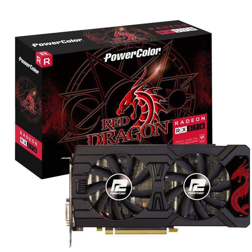 Ati Radeon Powercolor PCIe RX 570 Red Dragon 8Gb DDR5 HDMI/3xDP