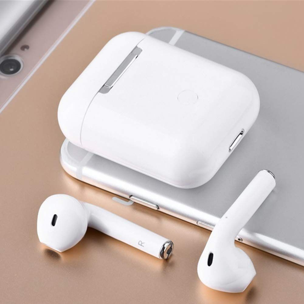 Auricolari Bluetooth 5.0  i12 TWS Cuffie  USB White AIR-BUDS